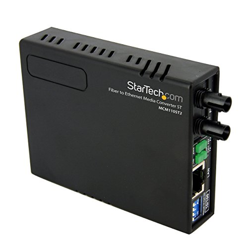 StarTech.com 10/100 Fiber to Ethernet Media Converter Multi Mode ST 2 km MCM110ST2