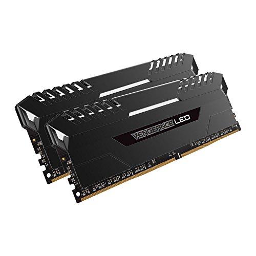 Corsair Vengeance 16GB 2x8GB DDR4 2666 PC4-21300 C16 for DDR4 Systems, White LED CMU16GX4M2A2666C16