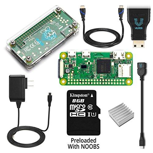 Raspberry Pi Zero W Complete Starter Kit–Includes Pi Zero W and 7 Essential Accessories