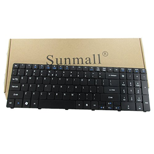 SUNMALL a6 Laptop Keyboard Replacement for Acer Aspire for 5250 5251 5253 5336 5551 5552 5560 5733 5733z 5736Z 5738Z 5740 5741 5742 5750 5750G 5810 7741 7551 Series US Layout 6 Months Warranty