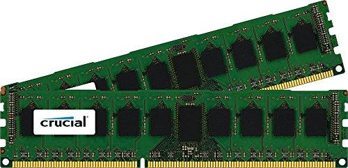Crucial 16GB Kit 8GBx2 DDR3/DDR3L-1600MT/s PC3-12800 DR x8 ECC UDIMM Server Memory CT2KIT102472BD160B/CT2CP102472BD160B