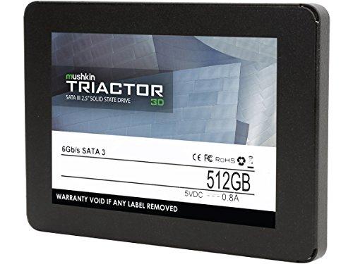 7mm – 6Gb/s – MKNSSDTR512GB-3D – SATA III – 2.5 Inch – Mushkin TRIACTOR-3D – 3D Vertical TLC – 512GB Internal Solid State Drive SSD