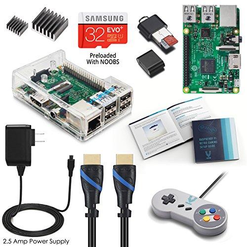 Vilros Raspberry Pi 3 RetroPie Arcade Gaming Kit with Classic USB Gamepad