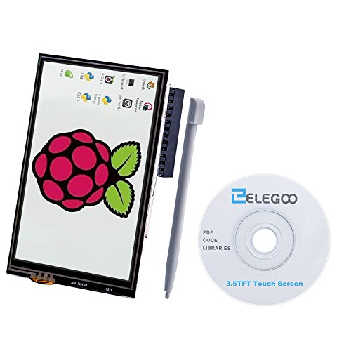 For Raspberry Pi 3 2 TFT LCD Display, Elegoo 3.5 Inch 480×320 TFT Touch Screen Monitor for Raspberry Pi Model B B+ A+ A Module SPI Interface with Touch Pen SC06