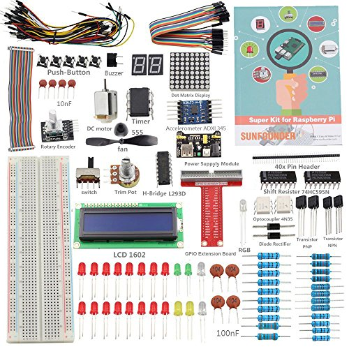 SunFounder Project Super Starter Kit for Raspberry Pi 3, 2, Zero