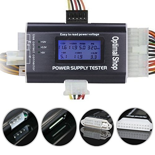 Optimal Shop 20/24 4/6/8 PIN 1.8″ LCD Computer PC Power Supply Tester for SATA,IDE,HDD,ATX,ITX,BYI Connectors