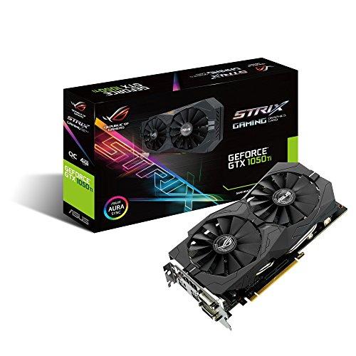 ASUS Geforce GTX 1050Ti 4GB ROG STRIX OC Edition HDMI 2.0 DP 1.4 Gaming Graphics Card STRIX-GTX1050TI-O4G-GAMING Graphic Cards