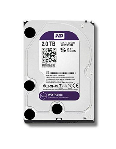 WD20PURZ – 5400 RPM Class SATA 6 Gb/s 64MB Cache 3.5 Inch – WD Purple 2TB Surveillance Hard Disk Drive
