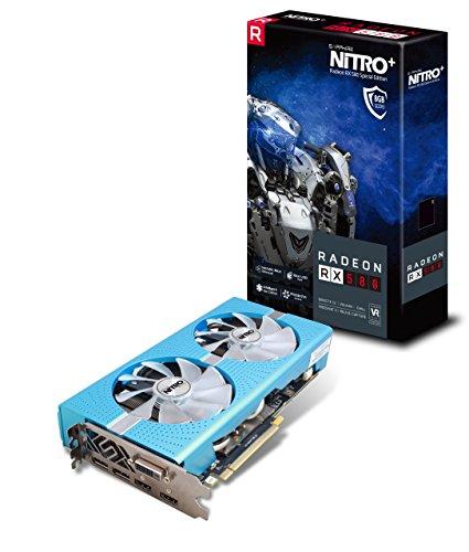 Sapphire Radeon NITRO+ RX 580 8GB GDDR5 DUAL HDMI / DVI-D / DUAL DP w/ backplate SPECIAL EDITION UEFI PCI-E Graphic Cards 11265-21-20G