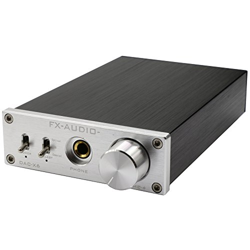 FX Audio DAC-X6 24BIT/192 Optical/Coaxial/USB Digital Audio Amplifier DAC Decoder Silver