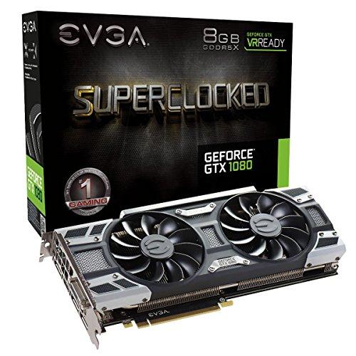 EVGA GeForce GTX 1080 SC GAMING ACX 3.0, 8GB GDDR5X, LED, DX12 OSD Support PXOC Graphics Card 08G-P4-6183-KR