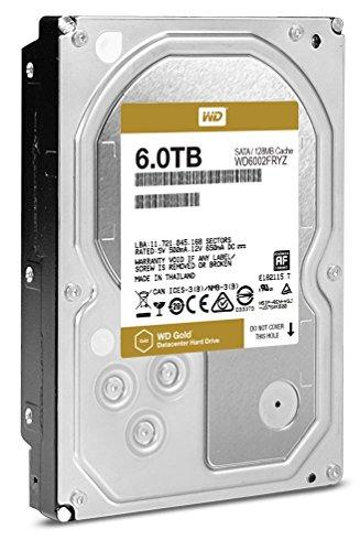 7200 RPM Class SATA 6 Gb/s 128MB Cache 3.5 Inch – WD Gold 6TB Datacenter Hard Disk Drive – WD6002FRYZ