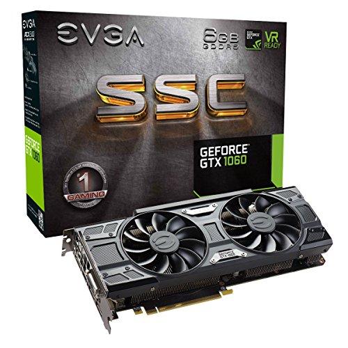 EVGA GeForce GTX 1060 6GB SSC GAMING ACX 3.0, 6GB GDDR5, LED, DX12 OSD Support PXOC Graphics Card 06G-P4-6267-KR