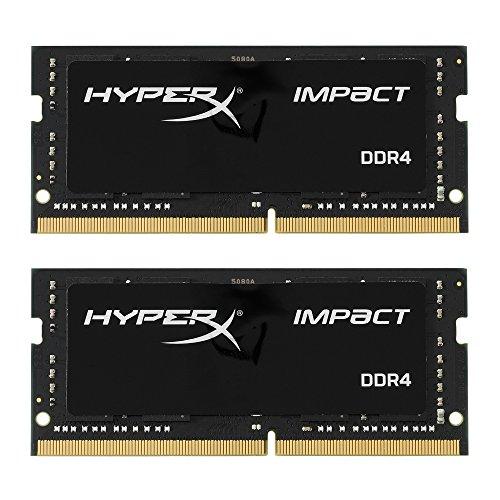 Kingston Technology HyperX Impact 32GB Kit 2x16GB 2133MHz DDR4 CL13 260-Pin SODIMM Laptop Memory Module HX421S13IBK2/32