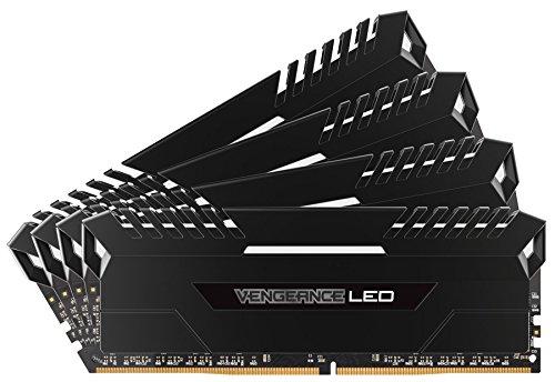 Corsair Vengeance LED 32GB 4x8GB DDR4 3200 PC4-25600 C16 for DDR4 Systems – White LED PC Memory CMU32GX4M4C3200C16