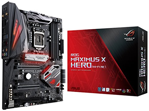 ASUS ROG Maximus X Hero Wi-Fi AC LGA1151 DDR4 DP HDMI M.2 Z370 ATX Motherboard with onboard 802.11ac WiFi, Gigabit LAN and USB 3.1 for 8th Generation Intel Core Processors