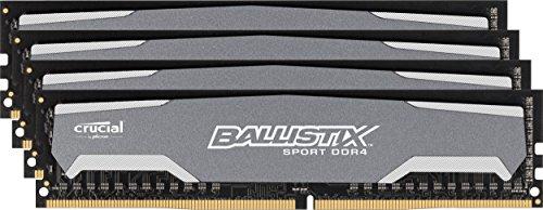 Ballistix Sport 32GB Kit 8GBx4 DDR4 2400 MT/s PC4-19200 DIMM 288-Pin Memory – BLS4K8G4D240FSA