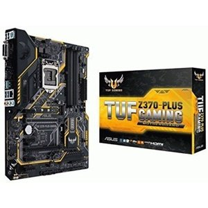 ASUS TUF Z370-PLUS GAMING LGA1151 DDR4 HDMI DVI M.2 Z370 ATX Motherboard with Gigabit LAN and USB 3.1 for 8th Generation Intel Core Processors