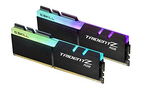 G.SKILL TridentZ RGB Series 16GB 2 x 8GB 288-Pin DDR4 2400MHz PC4 19200 Desktop Memory Model F4-2400C15D-16GTZR