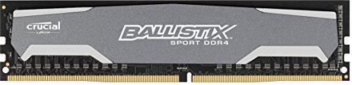 BLS8G4D240FSA – Ballistix Sport 8GB Single DDR4 2400 MT/s PC4-19200 DIMM 288-Pin Memory