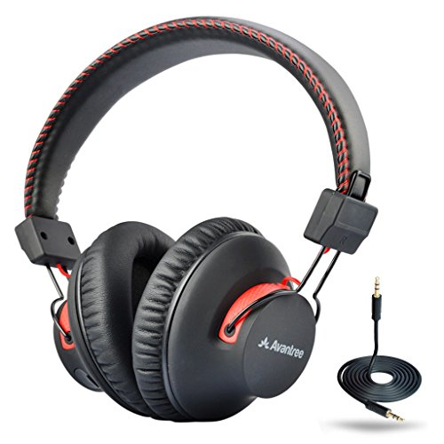 Audition 2-Year Warranty – Avantree 40 hr Wireless / Wired Bluetooth 4.0 Over-the-Ear Headphones / Headset with Mic, aptX Hi-Fi, Extra COMFORTABLE and LIGHTWEIGHT, NFC, DUAL Mode