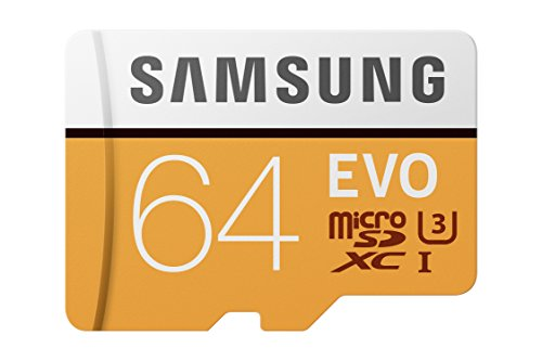 Samsung 100MB/s U3 MicroSD EVO Memory Card with Adapter 64 GB MB-MP64GA/AM