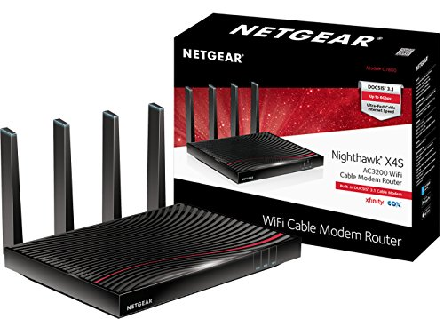 NETGEAR Nighthawk X4S DOCSIS 3.1 Ultra-High Speed Wifi Cable Modem Router Combo Compatible with Xfinity from Comcast, Cox, Gig-speed from Xfinity C7800