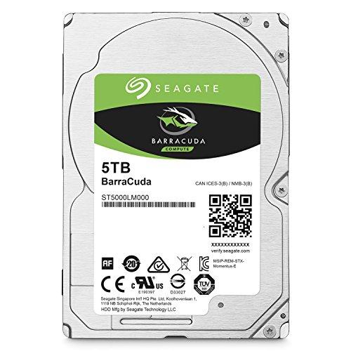 Seagate 5TB Barracuda Sata 6GB/s 128MB Cache 2 5-Inch 15mm