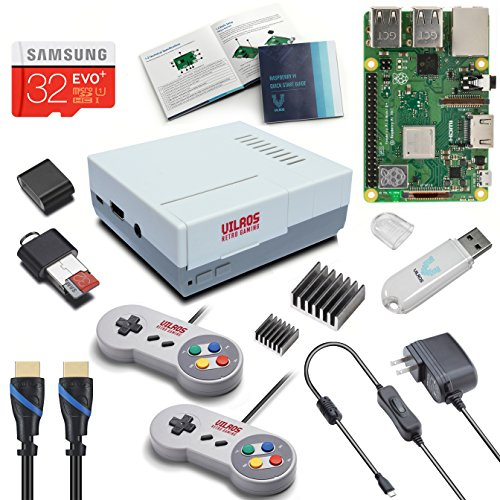 V-Kits Raspberry Pi 3 Model B+ B Plus Retro Arcade Gaming Kit with 2