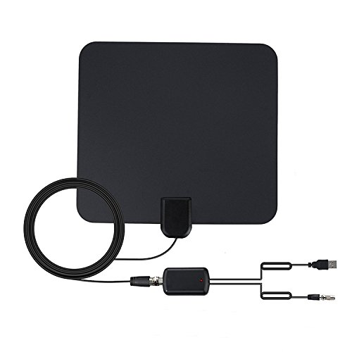 Long Range and High Performance Reception – Freeview Local Channels – KINGBERWI TV Antenna Indoor 50 Miles 1080P Digital HDTV Antenna with Upgraded Version Amplifier Signal Booster