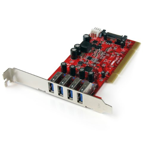 StarTech com 4 Port PCI SuperSpeed USB 3 0 Adapter Card with SATA