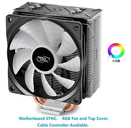 DEEPCOOL GAMMAXX GT, Black Top Cover, CPU Air Cooler