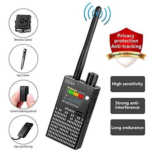 Eilimy Anti-Spy Wireless RF Signal Detector Set 2018 latest upgrade Bug GPS Camera Signal Detector,for Hidden Camera GSM Listening Device GPS Radar Radio Scanner Wireless Signal Device Finder