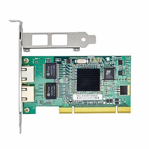Jeirdus for Intel Chipset 82546 Dual Port Gigabit 8492MT PCI Server Network Card 1000M RJ45 NIC Ethernet Desktop Adapter