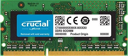CT102464BF186D – Crucial 8GB Single DDR3/DDR3L 1866 MT/s PC3-14900 Unbuffered SODIMM 204-Pin Memory