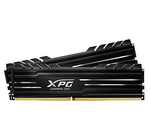 XPG Gammix D10 2666MHz PC4 21300 16G 8GBx2 Memory Module Kit Black AX4U266638G16-DBG