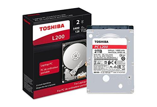 Toshiba HDWL120XZSTA L200 2TB Laptop PC Internal Hard Drive 5400 RPM SATA 6Gb/s 128 MB Cache 2.5″ 9.5mm Height – 2000 Internal Bare/OEM Drive