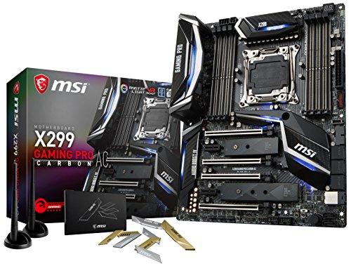 MSI Performance Gaming Intel X299 LGA 2066 DDR4 USB 3.1 SLI ATX Motherboard X299 GAMING PRO CARBON AC