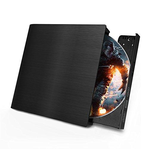 USB 3.0 External CD DVD Drive,Ultra Slim External DVD-RW Superdrive Burner Portable DVD CD Player For PC Desktop Laptop/Windows/Linux/Mac OS
