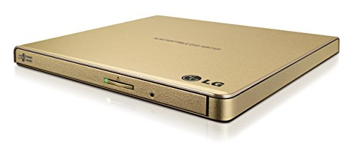 LG Electronics 8X USB 2.0 Super Multi Ultra Slim Portable DVD+/-RW External Drive with M-DISC Support, Retail Gold GP65NG60