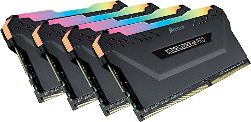 Corsair Vengeance RGB PRO 32GB 4x8GB DDR4 2666MHz C16 LED Desktop Memory – Black