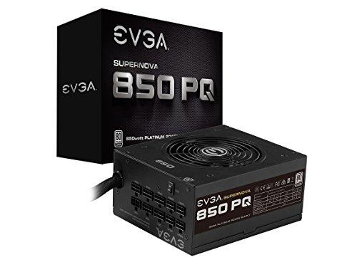 EVGA Supernova 850 PQ, 80+ Platinum 850W, Semi Modular, EVGA ECO Mode, 10 Year Warranty, Power Supply 210-PQ-0850-X1
