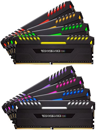 Black – Corsair Vengeance RGB 128GB 8x16GB DDR4 3800MHz C19 Desktop Memory