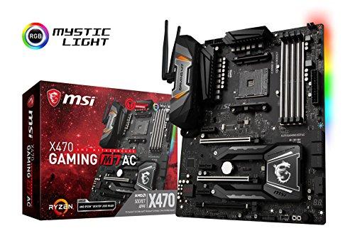 MSI Enthusiast Gaming AMD X470 Ryzen 2 AM4 DDR4 Onboard Graphics SLI ATX Motherboard X470 Gaming M7 AC