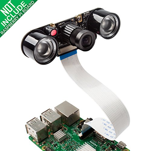Camera Module for Raspberry Pi 3 with 5MP 1080p OV5647 Video Webcam Supports Night Vision Compatible with Raspberry Pi 3b 2 Model B B+