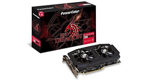 PowerColor AMD Radeon RED Dragon RX 580 8GB GDDR5 1 x DL DVI-D / 1 x HDMI / 3 x DisplayPort Graphics Card AXRX 580 8GBD5-3DHDV2/OC