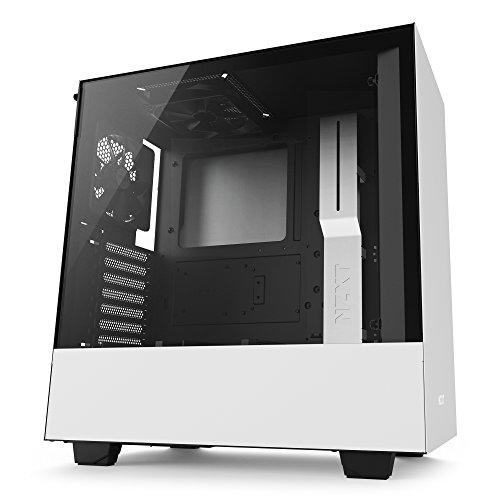 NZXT H500 ATX Computer Case, CA-H500B-W1, White/Black