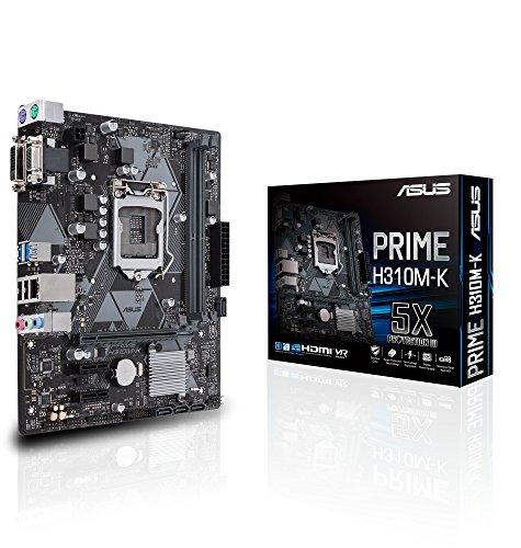 ASUS Prime H310M-K LGA1151 Intel 8th Gen DDR4 VGA DVI H310 Micro ATX Motherboard Model 90MB0X80-M0AAY0