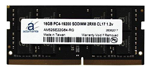 Adamanta 16GB 1x16GB Laptop Memory Upgrade DDR4 2400Mhz PC4-19200 SODIMM 2Rx8 CL17 1.2v Notebook RAM DRAM