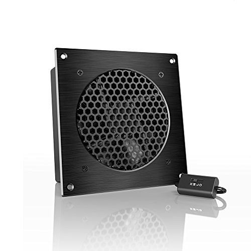 AC Infinity AIRPLATE S3, Quiet Cooling Fan System 6″ with Speed Control, for Home Theater AV Cabinets